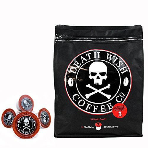 Death Wish Coffee Single Serve Coffee Pods for Keurig/K-Cup Style 2.0 Brewers, 50 ct