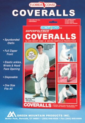 Image of Florida Coast 44-1428XL Superpolymer Premium Disposable Coveralls - One Size Fits All