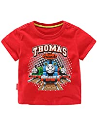 Indepence Life Toddler Boys' Thomas and Friends Train Short Sleeve T-Shirt for 2-8Years