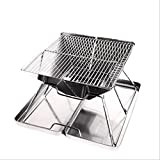 Outdoor Grilling Planks Stacked large stainless steel grill carbon oven multi-person BBQ grill at b5 - 1