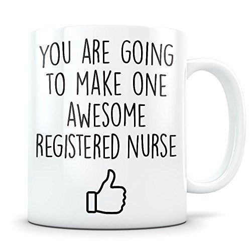 Registered Nurse Graduation Gifts - Future RN Nursing School Graduates - New Nurse Practitioner Coffee Mug for Men and Women School Students Class 2018 - Grad Diploma or Degree Congratulations ()