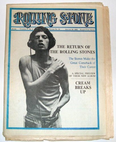 Rolling Stone Magazine #15 (Volume 2, Number 4) August 10, 1968