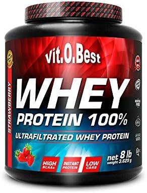 Vitobest Whey Protein 100%, Aroma de Fresa - 3628 gr