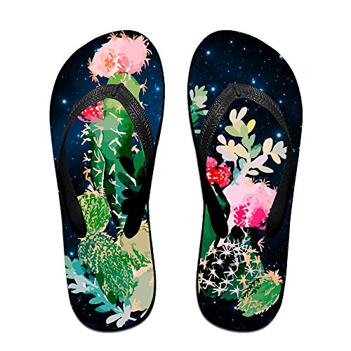 3e8af03d5 CACTUS PAINTING Art Unisex Fashion Beach Slipper Indoor And Outdoor  Classical Flip-Flop Thong Sandals