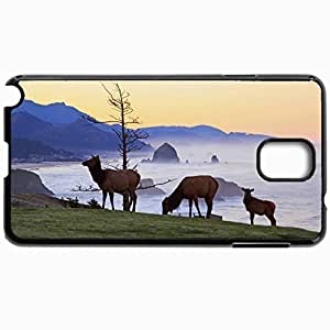 Customized Cellphone Case Back Cover For Samsung Galaxy Note 3, Protective Hardshell Case Personalized Elk Black