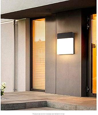 Aplique de pared cuadrado moderno Lámparas de aplique de lámpara de pared led, interior al aire libre 20w Lámpara de pared a prueba de agua Luz Sala de estar Dormitorio Aplique de