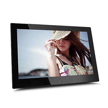 MJW 12 pulgadas de múltiples funciones marco de fotos digital llevó álbum de fotos electrónicas,