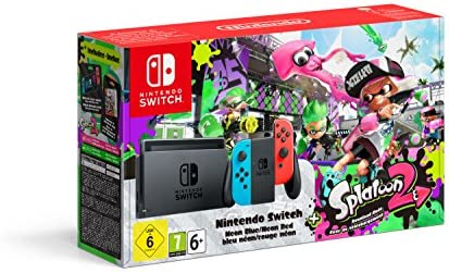 Amazon.es: Nintendo Switch 32GB Neon Red Blue Console Splatoon 2 ...