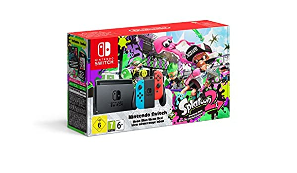 Amazon.es: Nintendo Switch 32GB Neon Red Blue Console ...