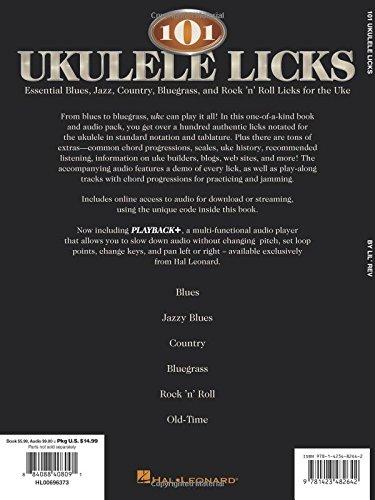 Amazon 101 Ukulele Licks Essential Blues Jazz Country