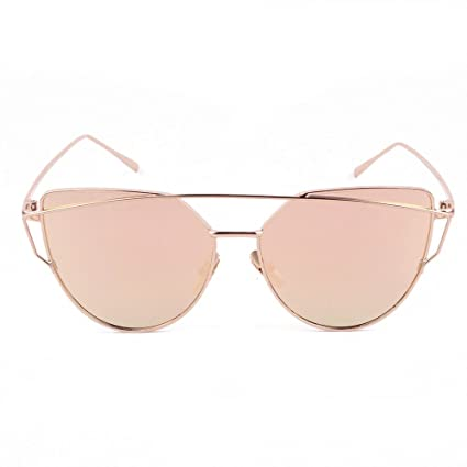 69ca8b27af Amazon.com  HOLLY Ultralight Protection Polarized Aviator Sunglasses for  Women (Gold