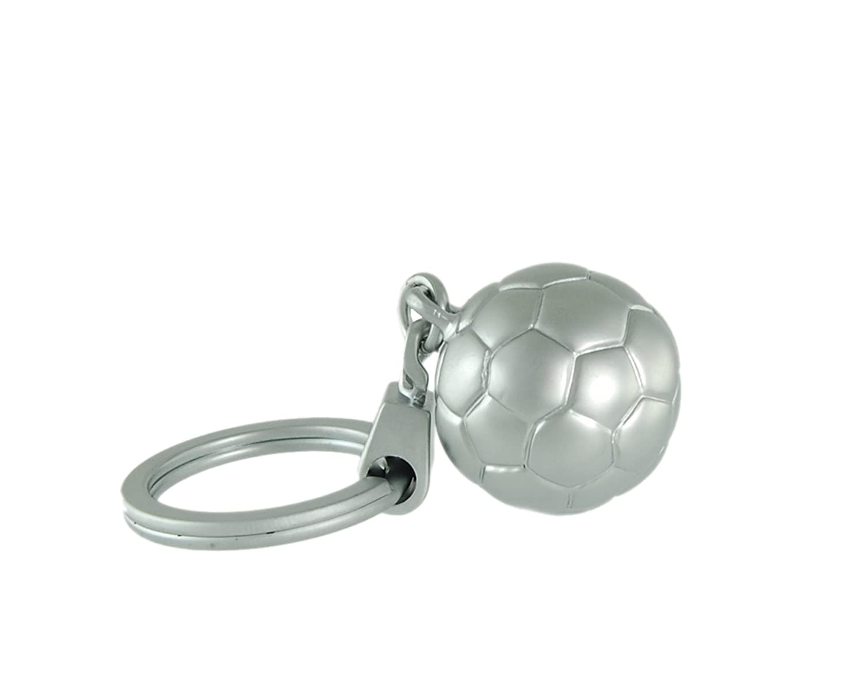 3d llavero Balón de fútbol plateado Emform