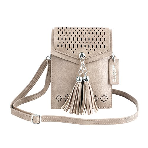 Small Cross Body Bag, SeOSTO Mini Cellphone Wallet Travel Purse with Tassel...