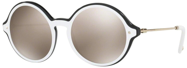 Sunglasses Valentino VA 4015 50435A TOP WHITE ON BLACK