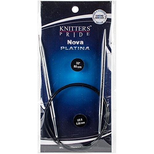 Fixed Circular Knitting Needles (Knitter's Pride Nova Platina Fixed Circular 32-inch (80cm) Knitting Needles; Size US 8 (5.0mm))