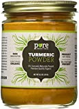 Organic Turmeric Powder Spice 7.5 oz - Freshly Packed in Glass Jar