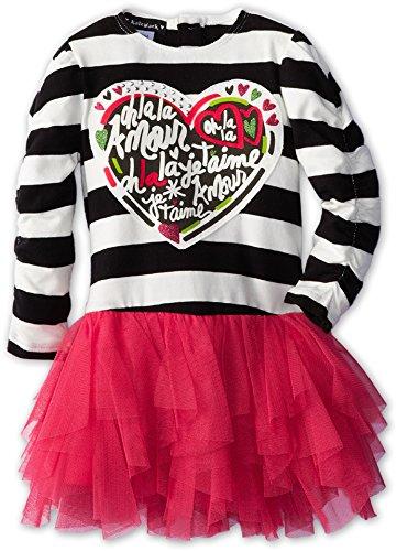 Kate Mack Baby Girl's Pop Couture Dress (Infant/Toddler) Black/Pink Dress 18 Months