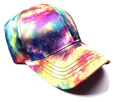 (Crown Sublimated Dad Hat - Mixed Prints (Tie Dye Galaxy))