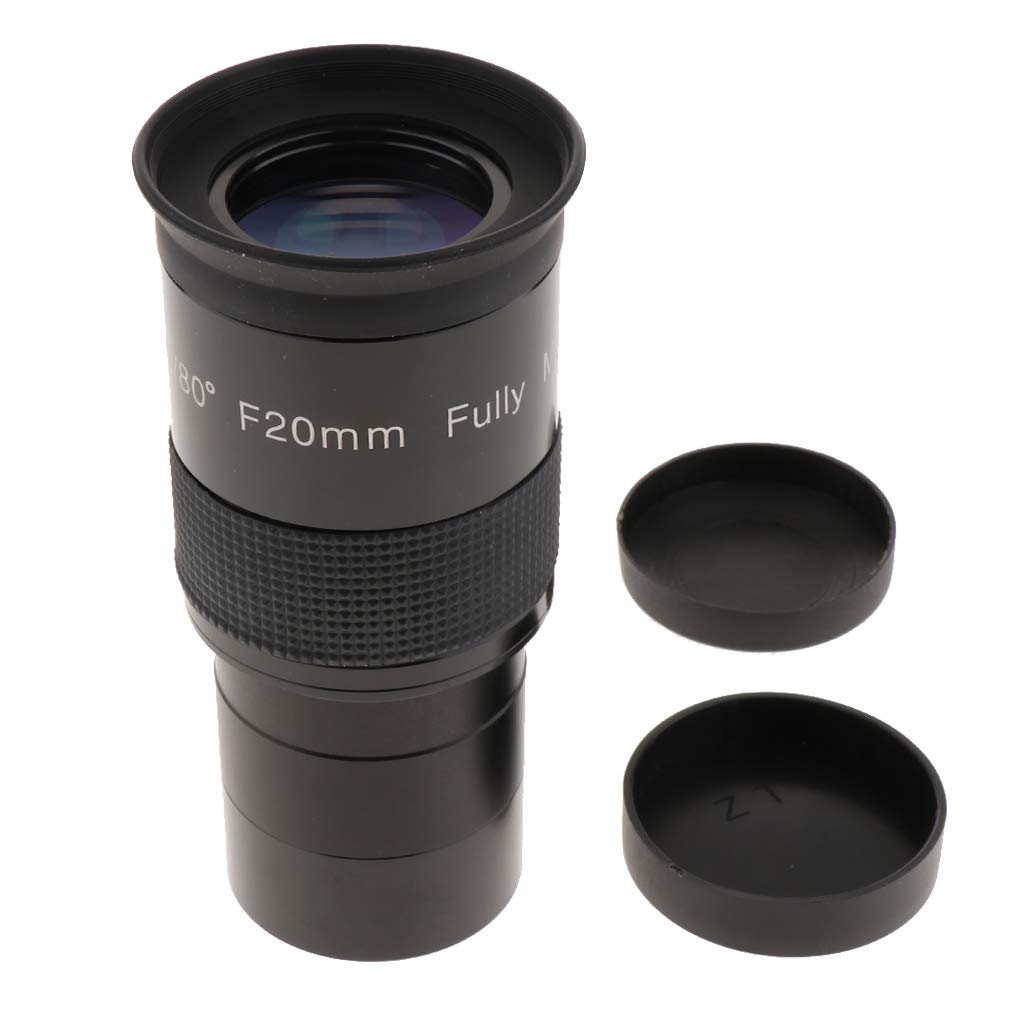 H HILABEE 超広角80度 接眼レンズ F20mm 2インチ/50.8mm 天体望遠鏡用 フルマルチコート キャップ付き   B07MY2SZF6