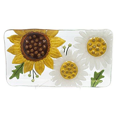 Daisy Platter (DEMDACO 2020170222 Sunflower & Daisies Platter - 15x8)