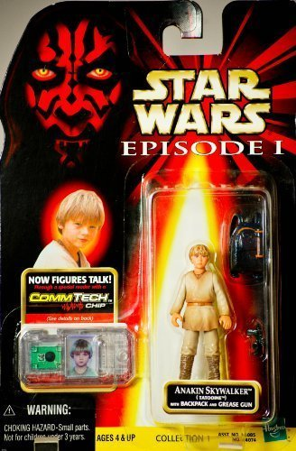 1998 - Hasbro - Star Wars - Episode I - Anakin Skywalker (Tatooine)w/ Baclpack & Grease Gun - CommTech Chip - Collection 1 - New - Out of Production - Limited Edition - Collectible