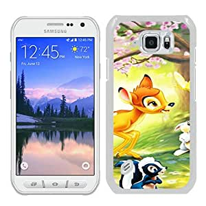 Unique Samsung Galaxy S6 Active Case ,Fashionable And Popular Designed Case With Disney Bambi White Samsung Galaxy S6 Active Cover Case Good Quality Phone Case