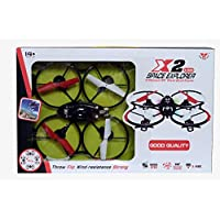 Planet of Toys X2 Space Explorer 4 Channel RC Stunt Quad Copter For Kids / Children
