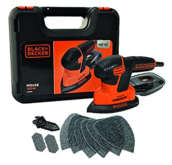 Black + Decker KA2500K Mouse Ponceuse 120 W nouveau design Stanley Black & Decker France KA2500K-QS