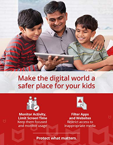 McAfee Total Protection 2021 Unlimited Devices, Antivirus Internet Security Software Password Manager, Parental Control, Privacy, 1 Year - Key Card