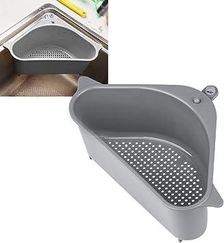 2 unidades escurridor de esquina Escurridor de esquina para fregadero de cocina forma triangular