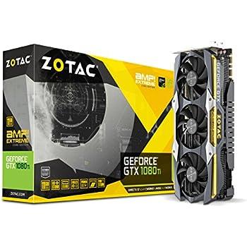 ZOTAC ZT-P10810F-10P GeForce GTX 1080 Ti AMP Extreme Core Edition 11GB GDDR5X 352-bit Gaming Graphics Card VR Ready