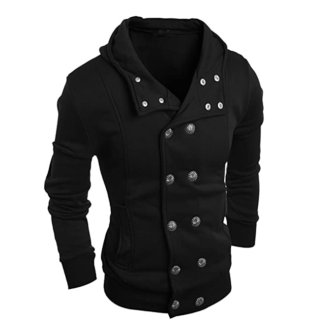 995a2f9d5e8c0 Longra Men Fashion Autumn Winter Hooded Sweater Top Blouse Mens Smart Tops  Dress Shirts White Colorful