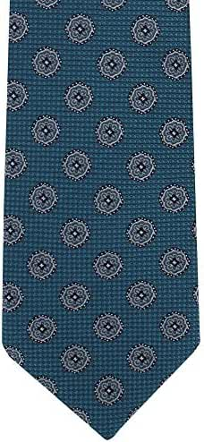 Teal Floral Medallion Silk Tie by Michelsons of London