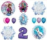 LoonBalloon FROZEN Anna ELSA OLAF Snowman Snowflake 2nd #2 (12) Birthday Party Balloons Set