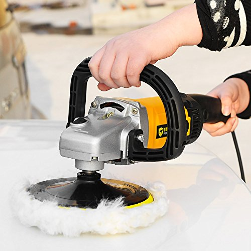 Goplus 7'' Electric Car Polisher Variable 6-speed Buffer & Sander w/ Bonnet Pad by Goplus (Image #2)