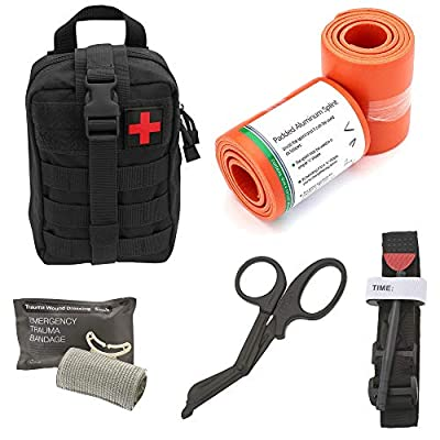 Tactical Medical Survival Tool Kit - Combat Tourniquet - Israeli Compression Bandage - Roll Up Splint - MOLLE System - IFAK - Trauma Kit - Ideal Kit for Military, EMT, Police, Firefighter and Hunting by ASATechmed
