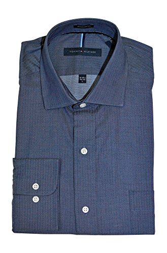 tommy-hilfiger-mens-non-iron-regular-fit-spread-collar-dress-shirt-17-175-neck-34-35-sleeve-x-large-
