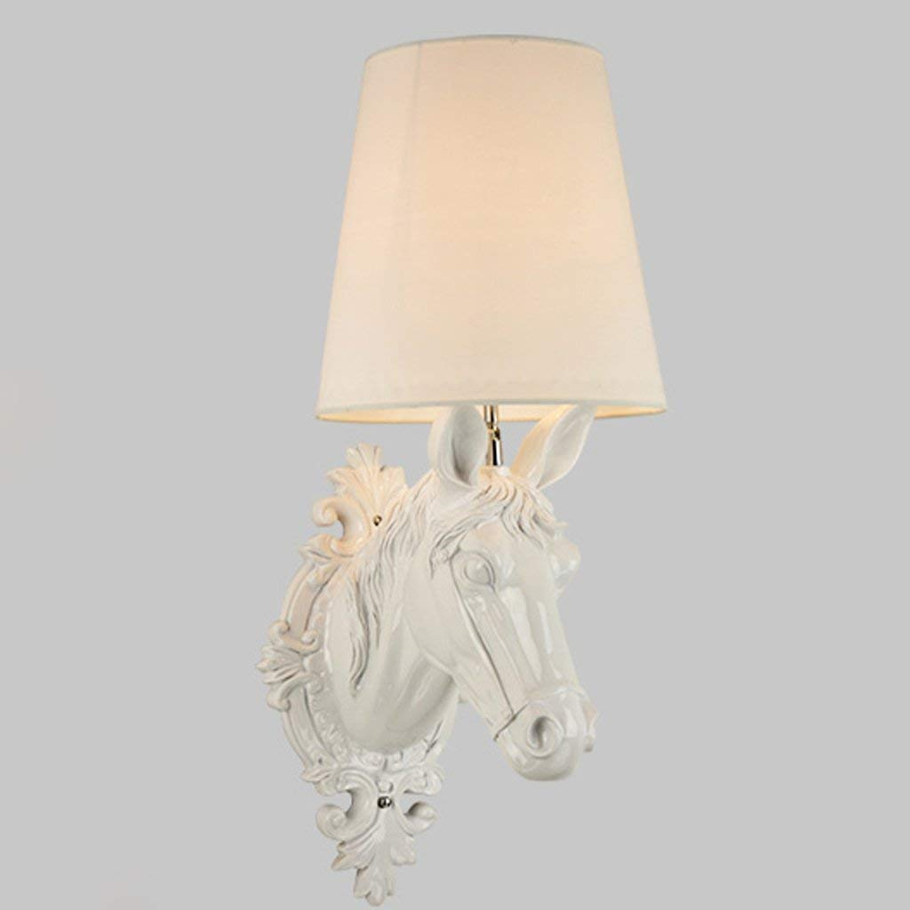 WHKHY Horse Head Wall Lamp to Parliament Its Style of The Bedchamber, Modern Lamps & Convenience Lantern Simple Lounge Furnishing Lighting (Led) Color: Black,White