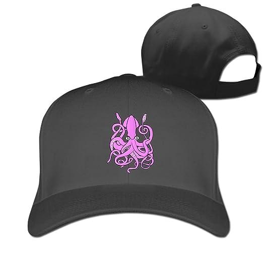 Amazon.com  Adjustable Baseball Caps Purple Octopus Unisex Dad Hat ... 9ac009113ecb