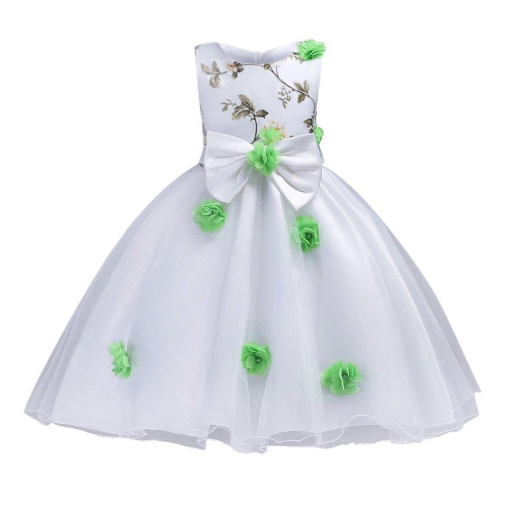 Mädchen-Blumen-Prinzessin Dress, Qlan scherzt Mädchen-Brautjunfer ...