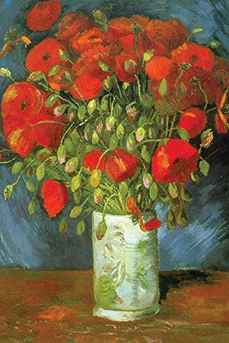 (Walls 360 Peel & Stick Wall Decal: Red Poppies by Vincent Van Gogh (16 in x 24 in))