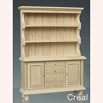 Amazon.es: Casa de Muñecas En Miniatura Muebles Cocina Armario ...