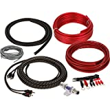 8 gauge wiring kit - Belva 8 Gauge 2-Channel Complete Copper-Clad Amp Wiring Kit [RED] with 2-Channel RCA Interconnects [BAK82]