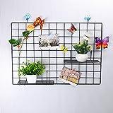 GBYAN Wall Grid Basket Straight Shelf Flower Pot