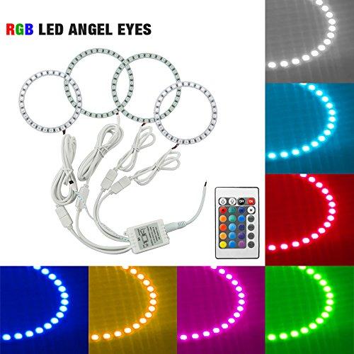 - FEELDO Car RGB LED Angel Eyes Halo Ring Light Wireless Remote Control for Hyundai Elantra(04-06) Headlight