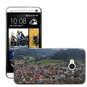 Hot Style Cell Phone PC Hard Case Cover // M00109994 Waldkirch Village Black Forest // HTC One M7
