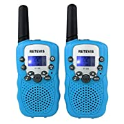Amazon Lightning Deal 97% claimed: Retevis RT-388 Kids Walkie Talkies UHF 462.5625-467.7250MHz VOX 22CH Portable FRS/GMRS Two Way Radio with Flashlight (Blue, 2 Pack)