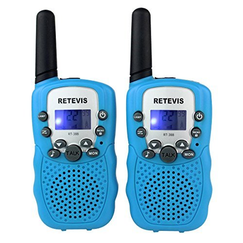 Amazon Lightning Deal 77% claimed: Retevis RT-388 Kids Walkie Talkies UHF 462.5625-467.7250MHz VOX 22CH Portable FRS/GMRS Two Way Radio with Flashlight (Blue, 2 Pack)