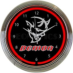 Dodge SRT Demon Red Neon Clock