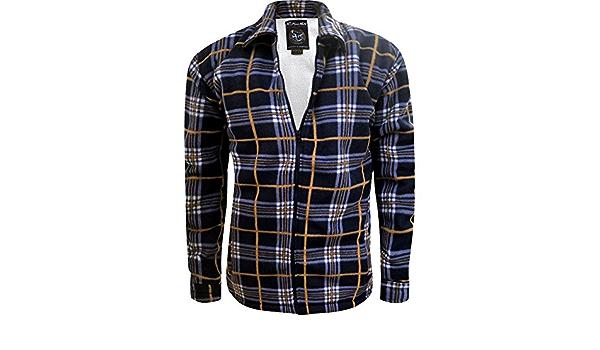 Camisa para hombre con forro polar, gruesa, para invierno ...